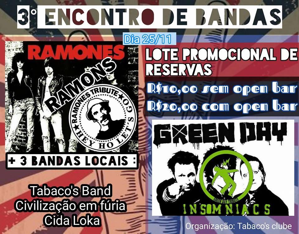 Festival Punk-Rock é neste dia 25-11 em Itápolis com Ramones Tributo!